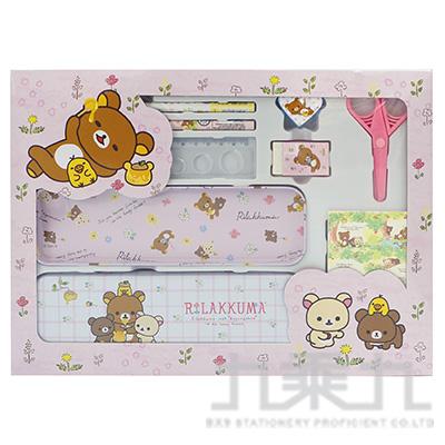 拉拉熊大紙盒文具組-粉版 RK07331A