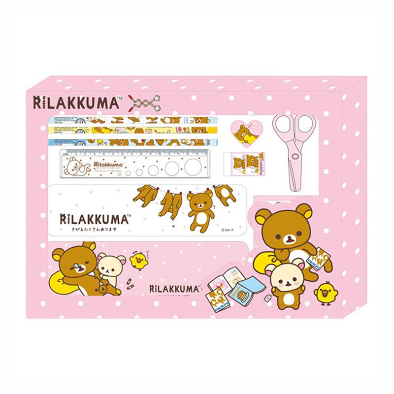 拉拉熊大紙盒文具組-大頭粉版  RK07332A