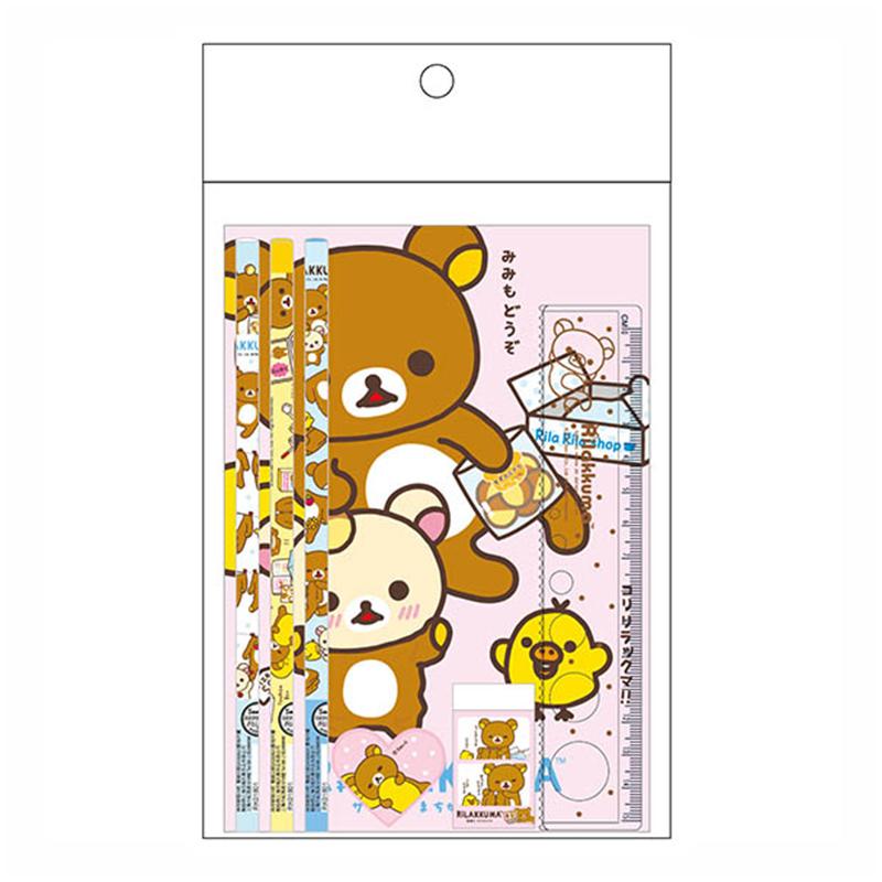 拉拉熊OPP袋文具組-大頭粉版 RK07312A