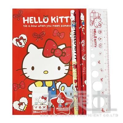 Kitty 蝴蝶結袋裝文具組 766850