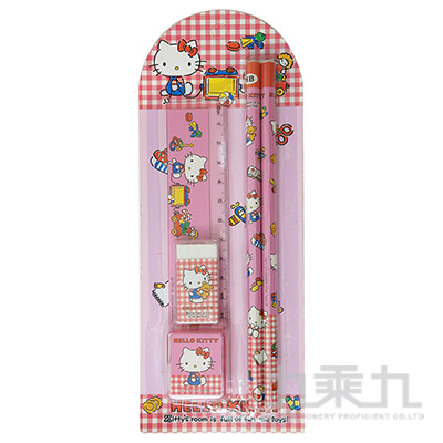 Hello Kitty 5件文具組(卡裝) 195773