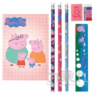 粉紅豬小妹袋裝筆記文具組(2) PGWT90-2