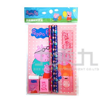 粉紅豬小妹袋裝筆記文具組(3) PGWT90-4