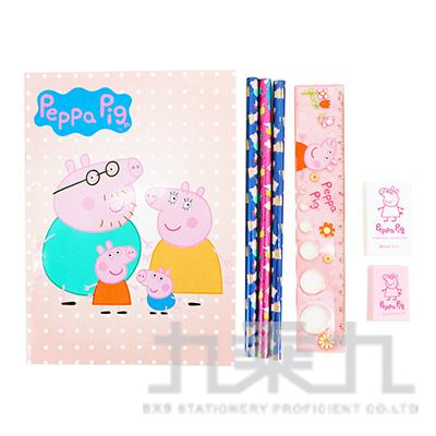 粉紅豬小妹袋裝筆記文具(4)  PGWT90-5