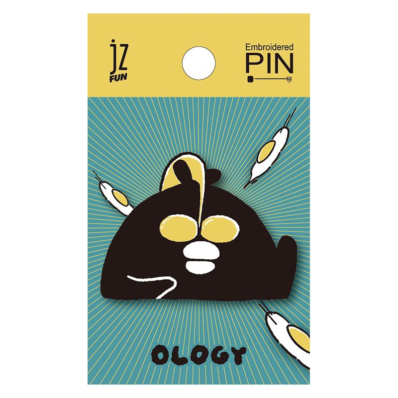 奧樂雞刺繡造型別針(鹹蛋超人)