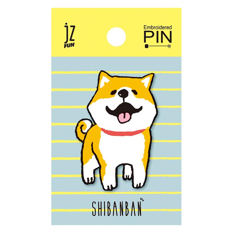 微笑柴犬刺繡造型別針(微笑)