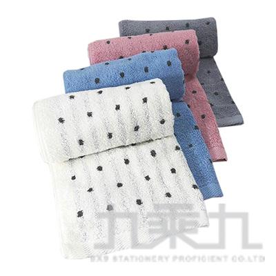 摩力諾美國棉抗菌防臭圓點毛巾 MO756 (款式隨機)
