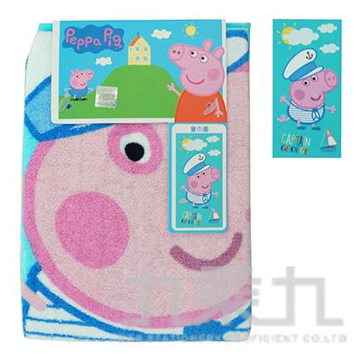 粉紅小豬童巾(藍) DB008