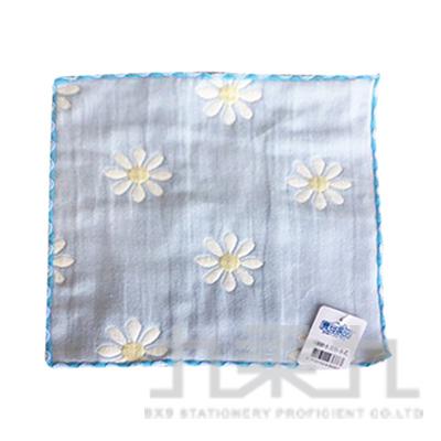 6層紗小方巾-小花