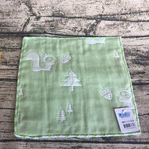6層紗小方巾-松鼠
