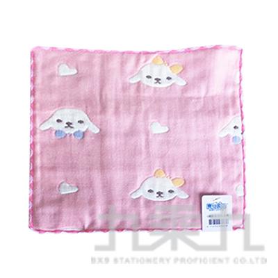 6層紗小方巾-小狗