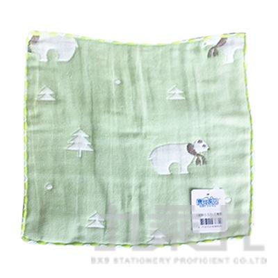 6層紗小方巾-北極熊
