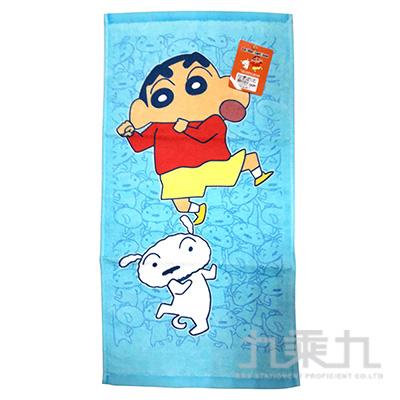 蠟筆小新與小白童巾-藍色