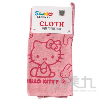 KITTY純棉印花擦拭巾 KT-97801