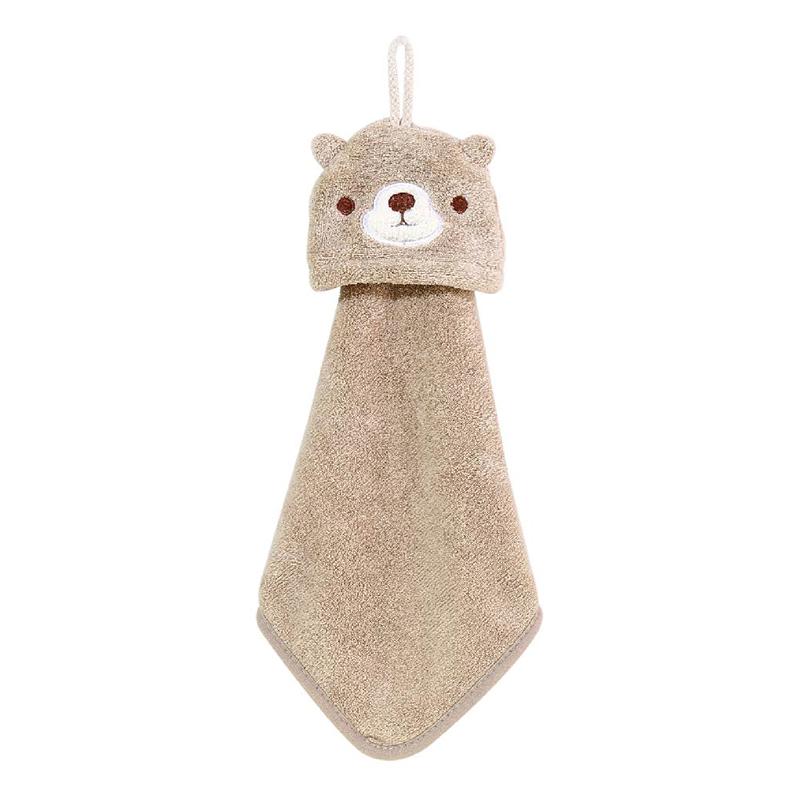 造型擦手巾(咖熊)-簡單生活