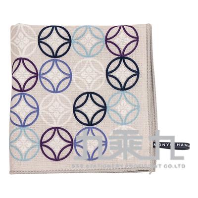 (停產)17855濱紋小方巾-流行七寶紋 25*25cm