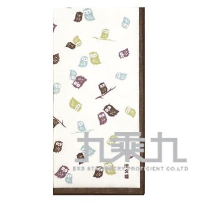 貓頭鷹方巾-綠 08167 50*50cm