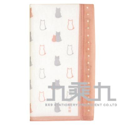 貓方巾-粉紅 08249 50*50cm