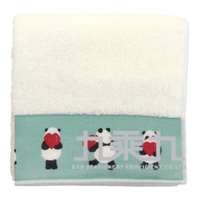 愛心熊貓小方巾 17618 23*23cm