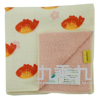17661 濱紋小方巾-櫻花鯛25*25cm