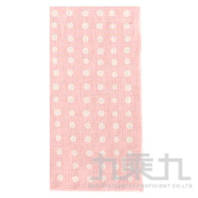 和物語手巾 多樣水玉粉紅 08294