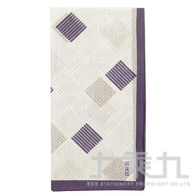 和物語手巾 網代格子 紫 08349