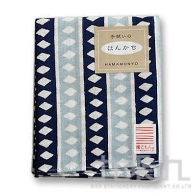 和物語手帕-算盤縞 淺藍 18897 34*43cm