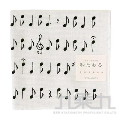 濱紋小方巾 音符 17269