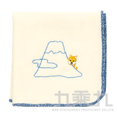 毛手帕 豆柴與富士山 17781