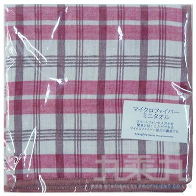 格紋小方巾-玫瑰E 17189 25*25cm