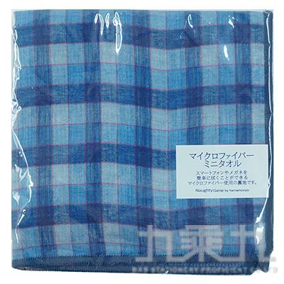 格紋小方巾-丹寧藍B 17180 25*25cm