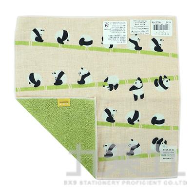 17550濱紋小方巾-熊貓滾圈圈 25X25cm