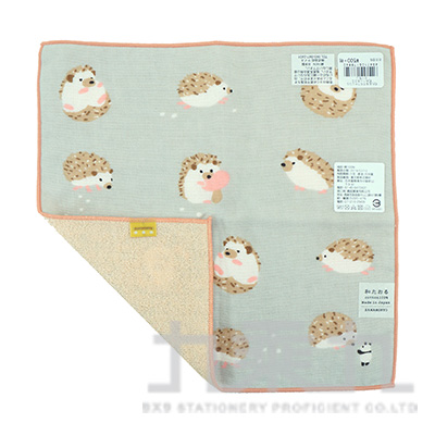 17884濱紋小方巾-和風哈利鼠25X25cm