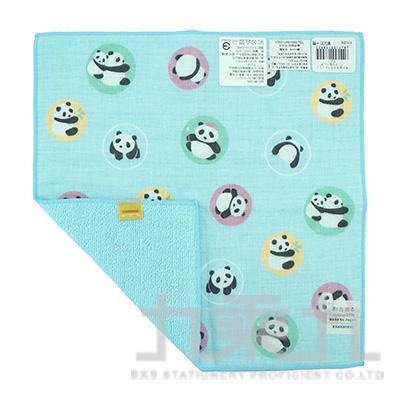 17892濱紋小方巾-圓圓熊貓25X25cm
