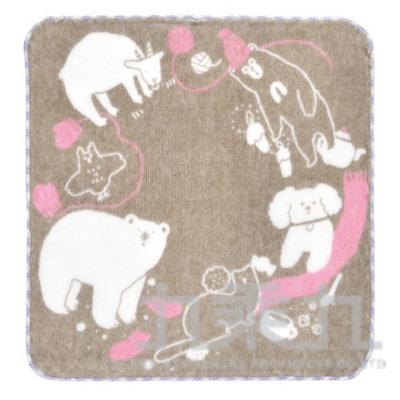 小方巾 聖誕節-咖啡色 MYA-516 511133