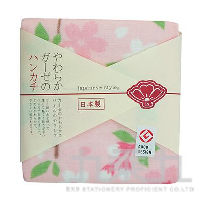 JS-35044 JS-(春)垂枝櫻花-小方巾 34X34
