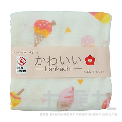 JS-35707 JS-KAWAII  冰淇淋-小方巾 34X34