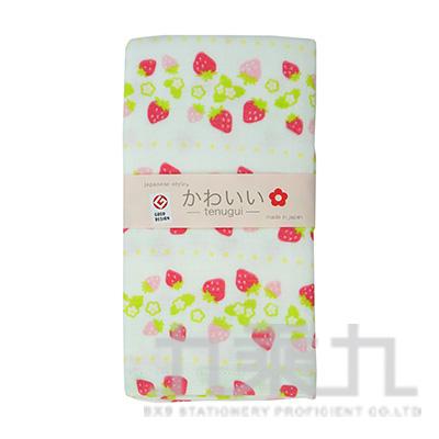 JK-5709 JS-KAWAII  點點草莓-毛巾 34X90