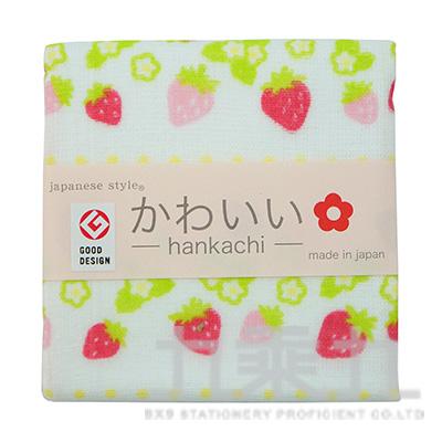 JK-35709 js-KAWAII  點點草莓-小方巾34X34