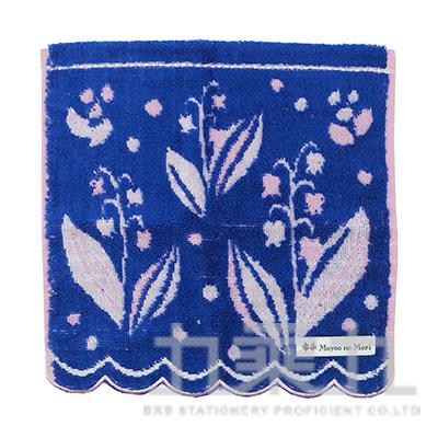 MBO-50105BotaniqbyMoyoonoMori 鈴蘭深藍方巾25x25