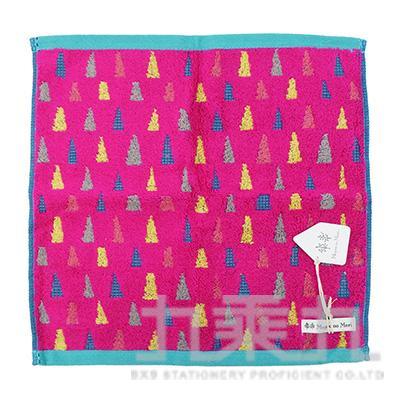 MGE-4002GeometriMoyooMori 多重角錐粉色  方巾34x34