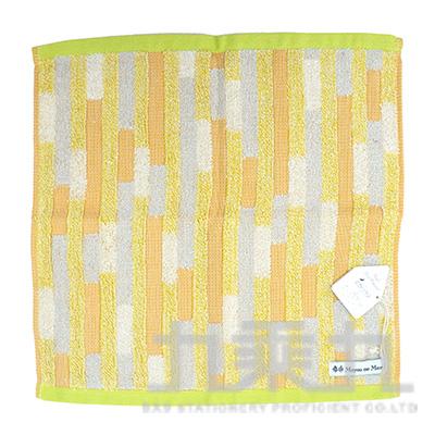 MGE-30101GeometricbyMoyoonoMori多重矩形黃方巾23x23