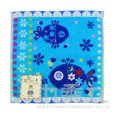 MN-45159Monu繽紛水世界洗臉毛巾-藍 23X23