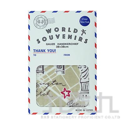 MWS-6012World Souvenir洗臉毛巾-風格紐約38x38