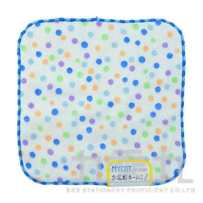 MYK-3577MYCOT 點點藍 方巾 15x15
