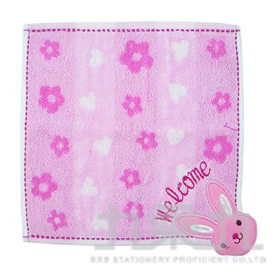 QGS-3091 TROUSSEAU 可愛動物小方巾/兔子20x20