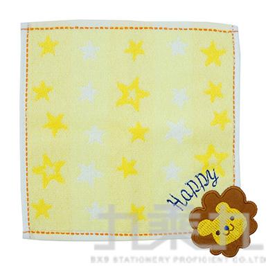 QGS-3091TROUSSEAU 可愛動物小方巾/獅子 20x20