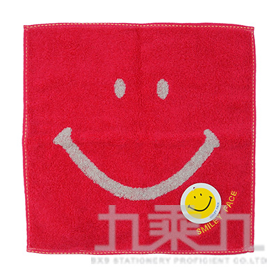 SM-5030SMILEY FACE 基本款小方巾/粉 25x25