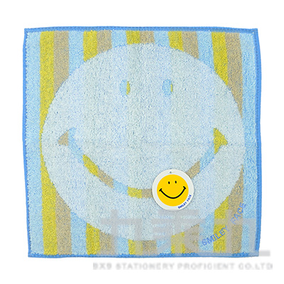 SM-5031SMILEY FACE 彩虹小方巾/藍 25X25