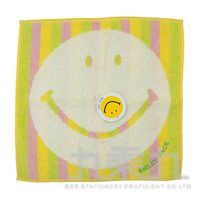 SM-5031SMILEY FACE 彩虹小方巾/綠 25X25